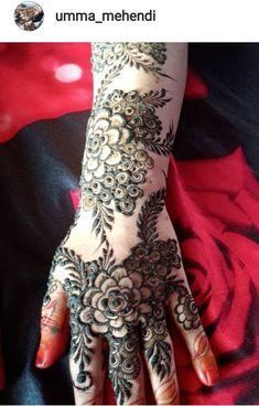 Henna Flower Designs, Pretty Henna Designs, Latest Bridal Mehndi Designs, Full Hand Mehndi Designs, Stylish Mehndi Designs, Henna Art Designs, Wedding Mehndi Designs, Mehndi Designs For Fingers, Beautiful Mehndi Design