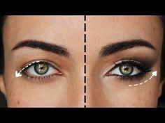 Hooded eye makeup tutorial for hooded eyes and crepey eyelids. Step-by-step instructions for makeup over 50 to teach you how to lift and flatter droopy eyelids. Eye Enlarging Makeup, Gold Eye Makeup, Eye Makeup Steps, Cat Eye Makeup, Skin Makeup, Makeup Tips, Beauty Makeup, Beauty Tips, Makeup 2016