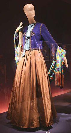 Yves Saint Laurent, evening ensemble, silk, fall/winter 1976–77 collection