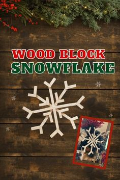 Make this rustic giant wooden snowflake using mini toy blocks and a dry brush coat of white paint. Jenga or tumbling tower blocks are the perfect source for this hobby lobby- inspired DIY. Check ou… Holiday Crafts, Home Crafts, Christmas Crafts, Crafts For Kids, Christmas Decorations, Diy Crafts, Christmas Ideas, Jenga Blocks, Wood Blocks