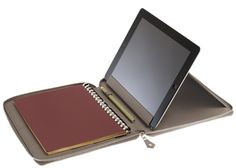 Hermès E-Zip iPad Notebook--leave it to Hermes to come up with an actual workstation and not just a cover!  I wonder how long I have to wait for one for my Samsung Note?