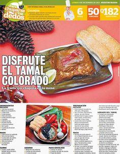Cocinas y Recetas: Tamales colorados para la navidad
