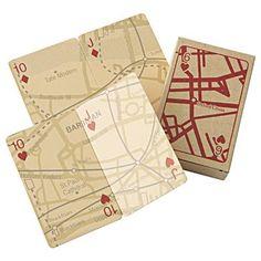 london map playing cards | muji