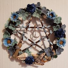 Pentacle, Hanukkah, Wreaths, Home Decor, Decoration Home, Door Wreaths, Room Decor, Deco Mesh Wreaths, Interior Design