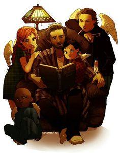 Anna Milton, Uriel, Castiel, Gabriel e Chuck/Deus.