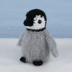 baby penguin amigurumi   Baby Emperor Penguin amigurumi crochet pattern [AA007] - US$5.00 ...