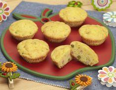 """La ricetta dei """"muffin di primavera"""", un'ottima alternativa al panino quando si è fuori di casa, insieme a un frutto diventa un pasto completo e nutriente."""