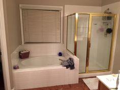 White Master Bathroom, Corner Tub, Tub Remodel, Makeover Before And After, Oak Forest, Bathrooms, Middle, Interior Design, Street