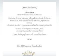 Special Menu dedicated to all our FACEBOOK friends <3 ! Creme Brulee, Special Events, Menu, Facebook, Friends, Menu Board Design, Boyfriends