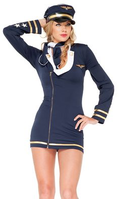 b7026c93f2f8 34 Best Flight attendant/pilot costume images   Pilot costumes ...