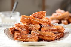Churros – słodki smak rodem z Katalonii Onion Rings, Churros, French Toast, Almond, Bacon, Cookies, Breakfast, Ethnic Recipes, Food