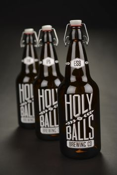 Holy Balls Brewing Co | Packaging by Kate Mikutowski, via Behance