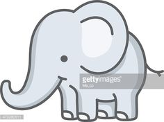 Vector Art : baby elephant / cartoon