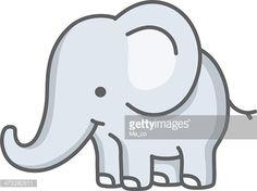 Vector Art : baby elephant / cartoon