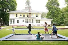 In ground trampoline - YES!! 6 of the best outdoor playspace ideas | nooshloves