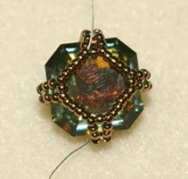 Another look with a netted back.  Good for square cab. #seed #bead #tutorial