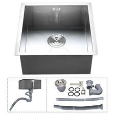 Stainless Steel Kitchen Sink Square Bowl Laundry Washing Basin
