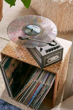 An Ion Duo Deck Digital Conversion Turntable with cassette deck is an affordable record player. Best Vinyl Record Player, Record Players, Vinyl Music, Vinyl Records, Radios, Urban Outfitters, Phonograph, Deck, Digital