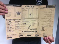 Diseño de carta de menú para Tolino