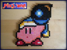 Kirby custom unitaire en perle Hama MiDi : Autres pièces pour créations par pix-l-and