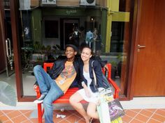 Shopping with my friend in Singapore