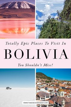13 Amazing Places to Visit in Bolivia! The best things to do in Bolivia. Don't miss out on these fabulous Bolivia travel hotspots - including the Bolivia Salt Flats, La Paz, Sucre, Copacabana, Lake Titicaca and more #bolivia #traveldestinations #travel Backpacking South America, South America Travel, Cool Places To Visit, Places To Go, Travel Guides, Travel Tips, Bolivia Salt Flats, Travel Around The World, Around The Worlds