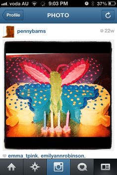Gabys 4th bday cake - Butterfly