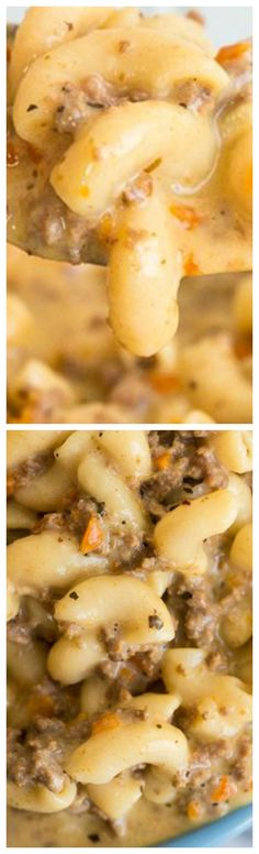 Crockpot Macaroni Cheeseburger Soup ~ The best soup you are ever going to make!