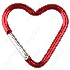Aliminum alloy heart shaped carabiner