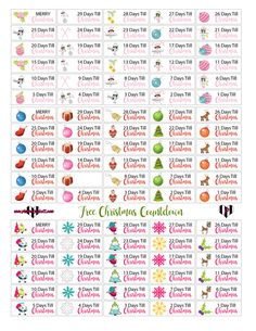 Free Christmas Planner Printables - Countdown to Christmas Mini Happy Planner, Free Planner, Planner Pages, Planner Ideas, Silhouette Cameo, Holiday Planner, Passion Planner, Printable Planner Stickers, Free Printables