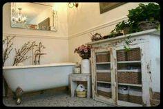 Prim Bathroom Storage...