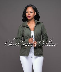 Chic Couture Online - Scotch Olive Green Military Jacket.(http://www.chiccoutureonline.com/scotch-olive-green-military-jacket/)
