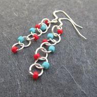 jump ring earrings - whatever color you like