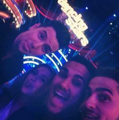 Logan Henderson, Alexa Vega, Carlos Pena, and Kendall Schmidt. DWTS. Latin Night. 2014. Season 18.