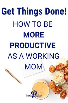 As a working mom, our responsibilities seem endless. It is easy to be overwhelmed with all the tasks on your plate. The key is learning how to be more productive.