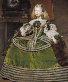 history-of-fashion:ca. 1660 Juan Bautista Martínez del Mazo - Infanta Margarita Teresa