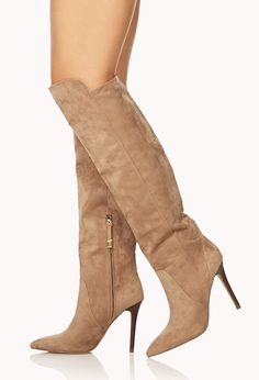 Sleek Over-the-Knee Boots   FOREVER21 - 2040495600