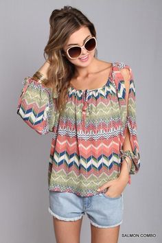 Aztec Tribal Summer Blouse from www.TheTexasCowgirl.com - A Western Chic Boutique