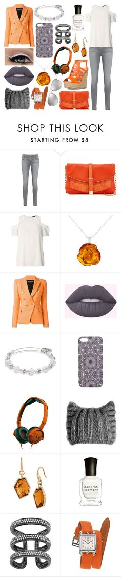 """""""Dahlia Keller 2"""" by ashlynknight ❤ liked on Polyvore featuring AG Adriano Goldschmied, Deux Lux, Dorothy Perkins, Be-Jewelled, Balmain, Lime Crime, Alex and Ani, With Love From CA, Skullcandy and KISS by Fiona Bennett"""