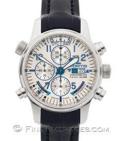 #FORTIS   #F-43 Flieger Automatik Chronograph Alarm GMT Limited   Ref. 703.20.92 LC.05 - http://t1p.de/rw1o