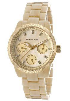 Michael Kors Women's Beige MOP Dial Beige PlasticMichael Kors MK5400 Watch