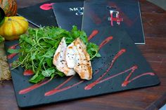 Green salad with grilled chicken breast fillet, fresh watercress, baby arugula, black sesame and strawberry dressing !!!Paparouna Wine Restaurant & Cocktail Bar   Our Chef prepared for today...