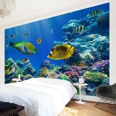 Vliestapete - Underwater Lights - Fototapete Breit