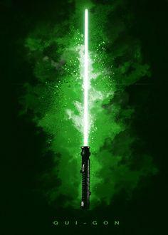 "Official Star Wars Character Lightsabers Qui-Gon Jinn #Displate artwork by artist ""Star Wars"". Part of a set featuring lightsabers from the popular #StarWars film franchise. £35 / $50 (Medium), £71 / $100 (Large), £118 / $166 (XL) #ThePhantomMenace #AttackOfTheClones #RevengeOfTheSith #ANewHope #TheEmpireStrikesBack #ReturnOfTheJedi #TheForceAwakens #TheLastJedi #RogueOne #SoloAStarWarsStory #Lightsaber #QuiGonJinn"