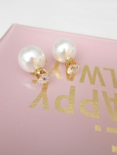 Big Pearl Diamond Earrings ($12.50) This jewelry earrings are stylish and minimal essentials that rock any look you are trying to pull off.