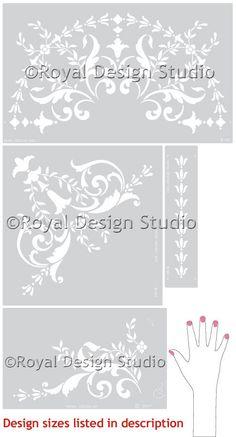 Ceiling Stencils | 19th Century Ceiling Set | Royal Design Studio