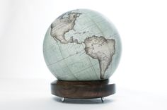 Mint Green Mini Desk Globe with London Plane Base : Bellerby & Co Globemakers : Made in London, England Desk Globe, Mini Desk, World Globes, London England, Mint Green, Plane, Maps, Bedroom Ideas, Hand Painted