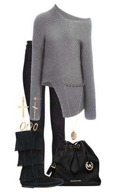 """Peace And Quiet."" by brittneygabriellaaa ❤ liked on Polyvore featuring H&M, Joseph, MICHAEL Michael Kors, Minnetonka, Charlotte Russe, Mondevio and Pixie Grey"