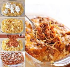 This is called Million Dollar Spaghetti - must try! It's got spaghetti sauce, beef and cream cheese mixture meal … that tastes like a million bucks. Homemade Spaghetti, Spaghetti Recipes, Spaghetti Sauce, Pasta Recipes, Spaghetti Noodles, Baked Spaghetti, Chicken Spaghetti, Homemade Pasta, Popular Recipes