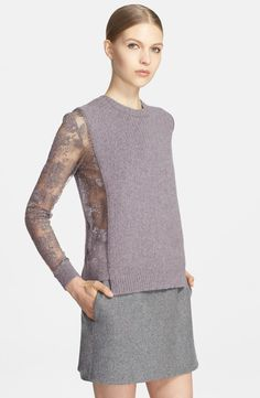 Valentino  Lace Inset Wool and Cashmere Sweater |  2014